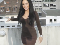 Sexy Brunette banged on the Balcony