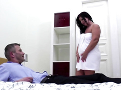 Brunette Lady Suck and Fuck Young Cock