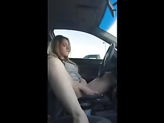 Lovely Teen Masturbates in the Car
